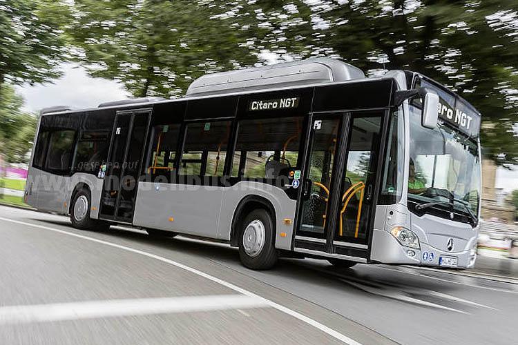 Neu und schon ab Herbst 2015 lieferbar: Der Citaro mit Erdgasantrieb..
