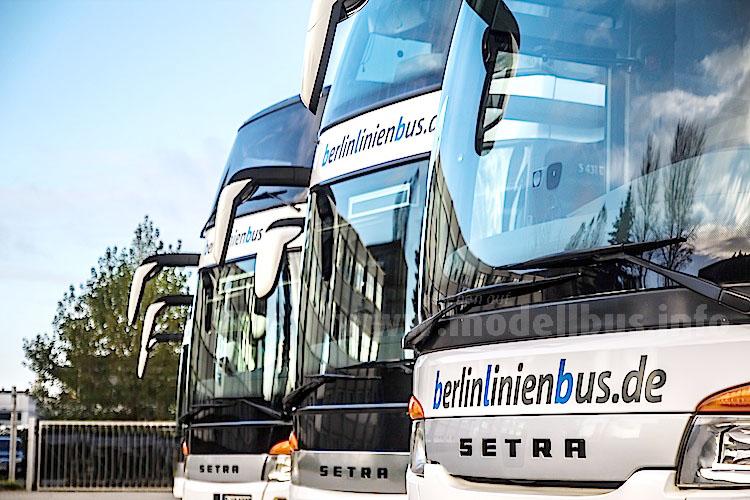 Im Dienst der Bahn: Die Fernbusse von Berlinlinienbus.