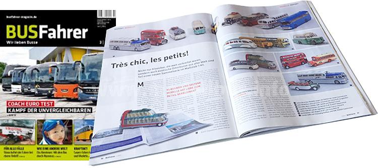 Die Modellbusgeschichte im BUSFahrer 3/15 berichtet über eine französische Sammelserie.