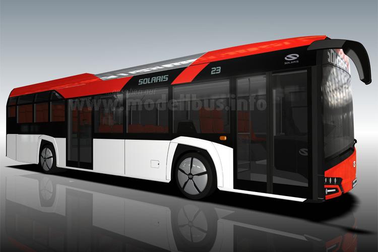 ...und den neuen Low-Entry-Urbino von Solaris auf der Busworld in Kortrijk.