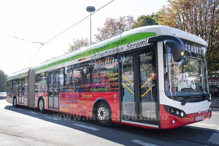 Nach dem Solobus jetzt der Gelenkbus: Bonn testet weiter Elektrobusse.