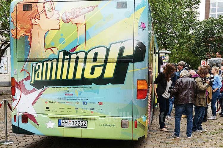 Ein ehemaliger Linienbus der Hochbahn ist jetzt...