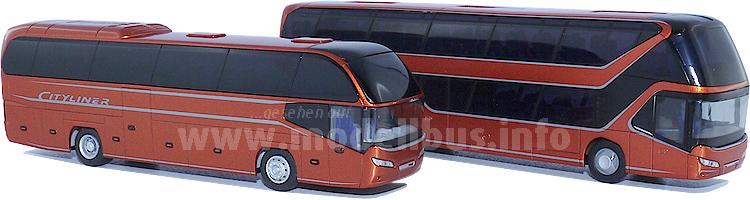 Neoplan-Werbemodelle für die Busworld