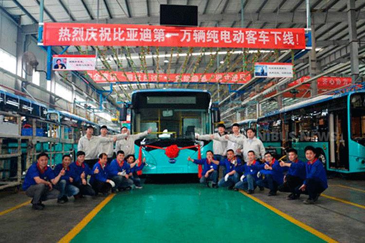 Über 10.000 Elektrobusse hat BYD schon auf die Straßen gebracht. Foto: BYD