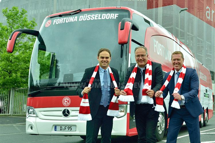 Mannschaftsbus Fortuna Düsseldorf