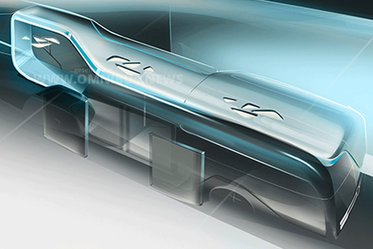 Daimler lädt zur Premiere des Stadtbusses der Zukubft. Grafik: Daimler
