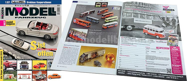 Das aktuelle Heft des Modell Fahrzeugs enthält auch Modellbus-Berichte.