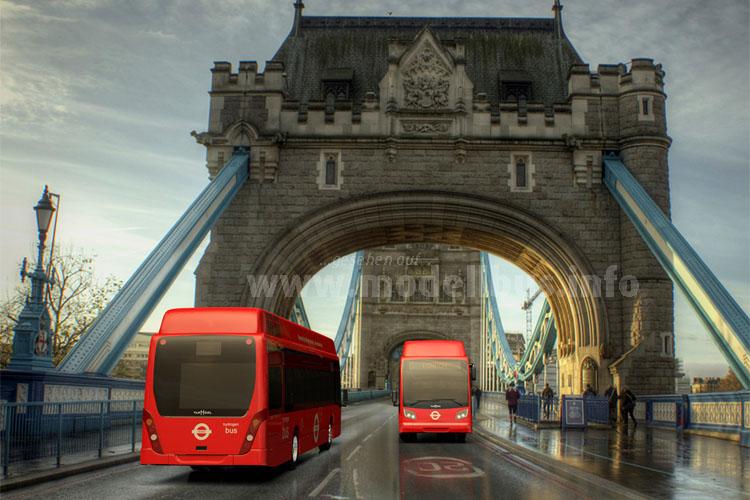 Brennstoffzellenbusse für London