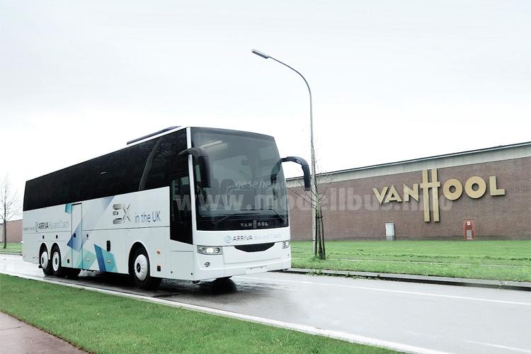 Ab sofort auch rechtsgelenkt und mit drei Achsen lieferbar: Der EX von Van Hool.