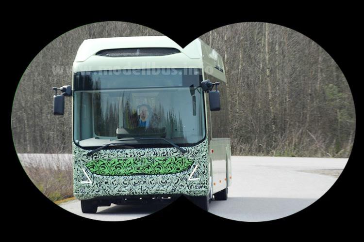 Gesichtet: Der neue Elektrobus von Volvo.