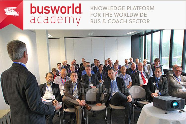 Die Busworld Academy bietet auf der Busworld flankierende Seminare mit omnibusbezogenem Fachwissen an.