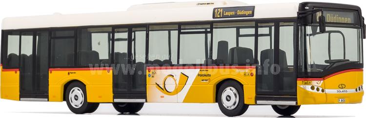 Auch im kleinen Maßstab sind die Solaris Urbino-Modellbusse von VK Modelle...