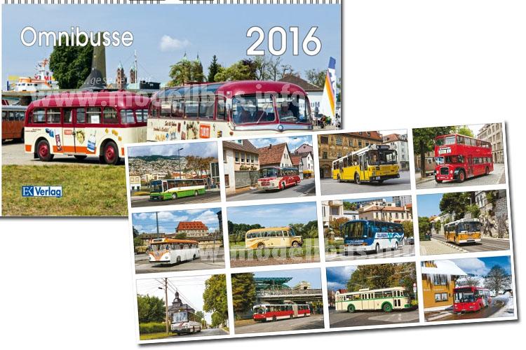Ab sofort erhältlich: Der Kalender Omnibusse 2016 vom EK Verlag.