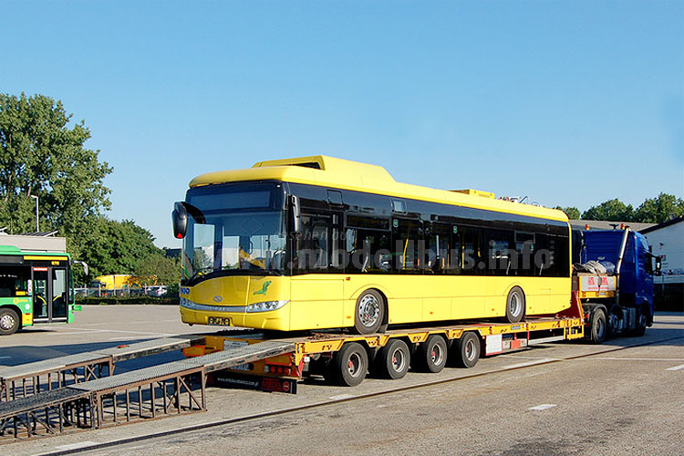Ankunft in Oberhausen: Zwei Solaris Urbino 12 Electric sind ab sofort auf der Linie unterwegs.