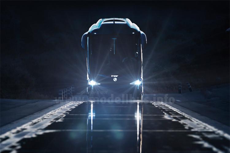 Der neue Irizar i8 soll an das Image des PB anknüpfen, Weltpremiere ist in Kortrijk auf der Busworld.