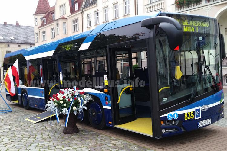 Auch in der Heimat im Einsatz: Der neue Solaris Urbino.