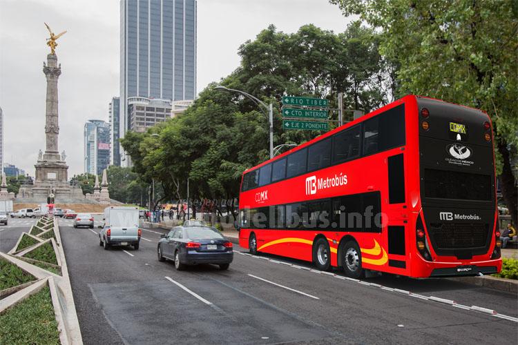 Die Lösung für Ballungszentren: Der Alexander Dennis Enviro 500 fährt im nächsten Jahr auch in Mexiko Stadt - 90 Doppeldecker wurden jetzt bestellt.