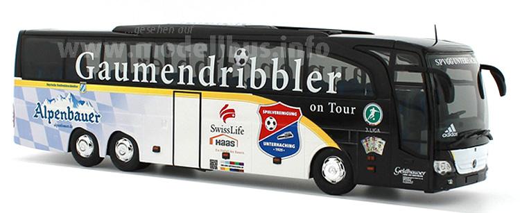 Der ehemalige DFB-Teambus ist jetzt für die SpVgg Unterhaching im Einsatz.
