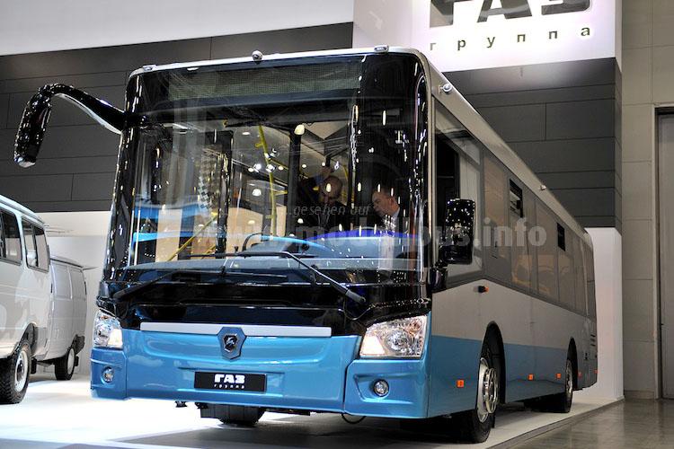 Auch der klassische ÖPNV hat moderne Fahrzeuge aus heimische Produktion, wie derGAZ Liaz 4292 zeigt.