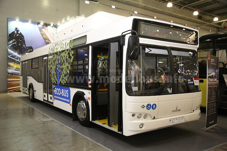 Auch MAZ hatte einen Erdgasbus ausgestellt.