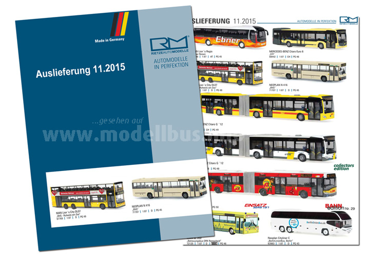 Neun Modellbusse liefert Rietze im November aus.