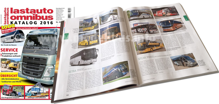 Druckfrisch: Der neue lastauto omnibus-Katalog 2016 ist erschienen.