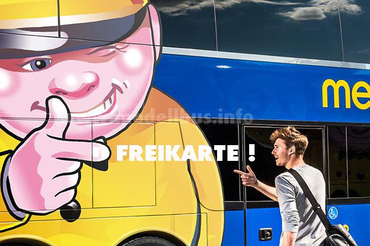 Megabus verlost 50.000 Freikarten.
