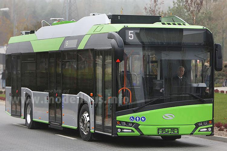 Dreht ist Posen schon erste Runden: Der neue Urbino 12 Electric für die Üstra.