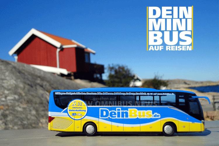 DeinBus.de verlost 87-fach verkleinerte Modellbusse. Foto: DeinBus