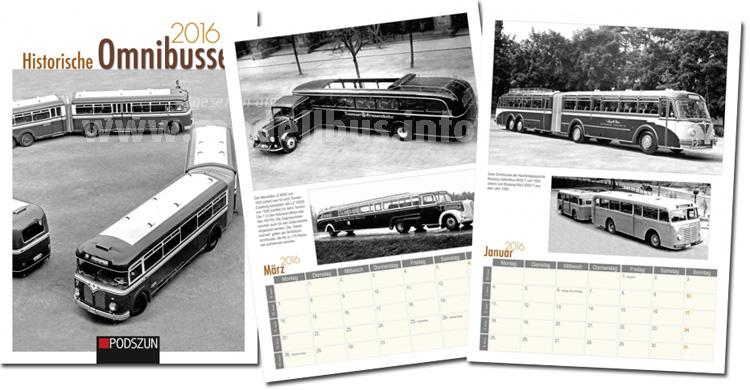 Ab sofort verfügbar: Ein Kalender mit historischen Omnibussen.
