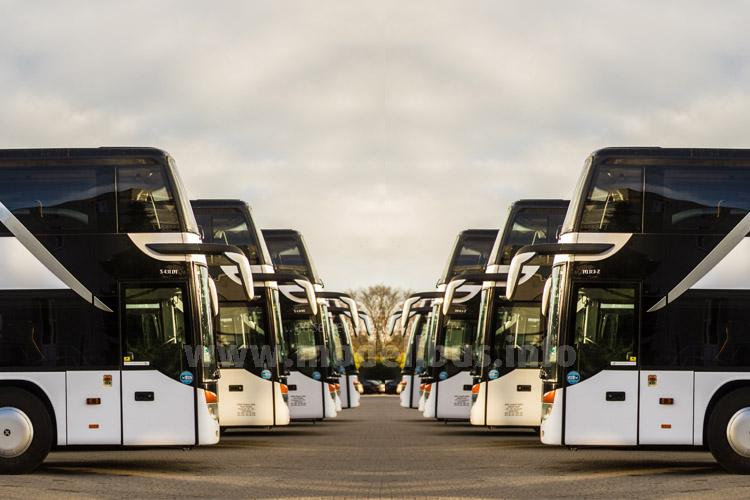 Berlin Linien Bus hat den Fuhrpark auf 130 Omnibusse aufgestockt.