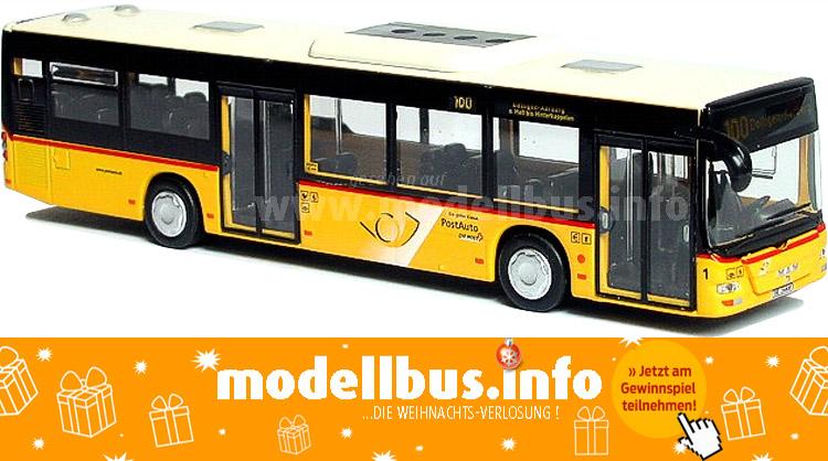 Arwico aus der Schweiz schickte ein Postbus auf MAN Lions City-Basis.