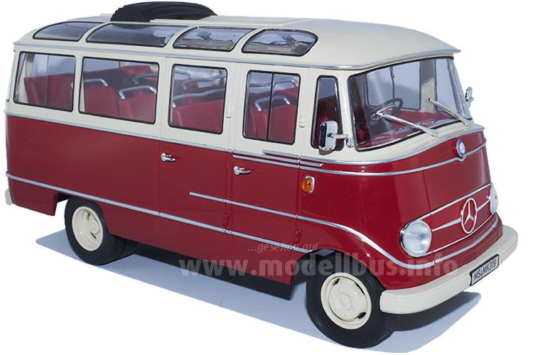 Im Maßstab 1/18 relativ groß und aus Metall: Der Mercedes-Benz O 319 von Norev.