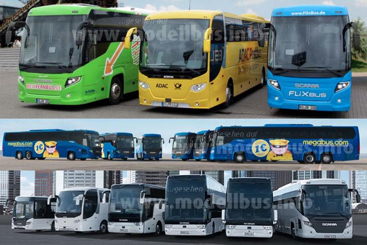 Scania bietet vom Linienbus bis zum Reisebus-Doppeldecker ein breites Portfolio.