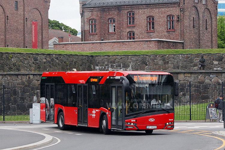 Einer der neuen Solaris Urbino 12 Busse, die schon seit 2015 in Olso fahren. Foto: Solaris/  Sebastian Grellus