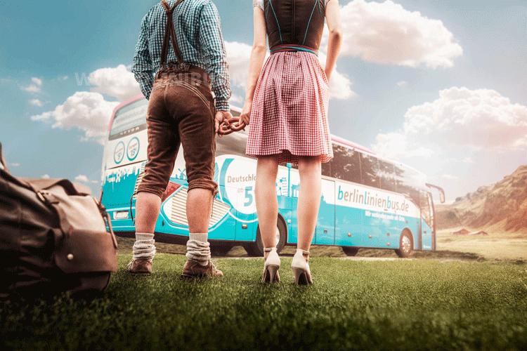 Busse, Bayern und die Beinfreiheit kreativ umgesetzt. Foto: BLB