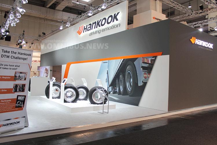 Hankook zeigt auf der IAA neue Busreifen speziell für Fernbusse. Foto: Hankook