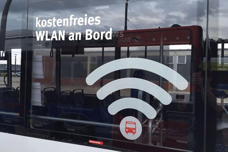 Testphase mit kostenlosem WLAN in Bremer Bussen. Foto: BSAG