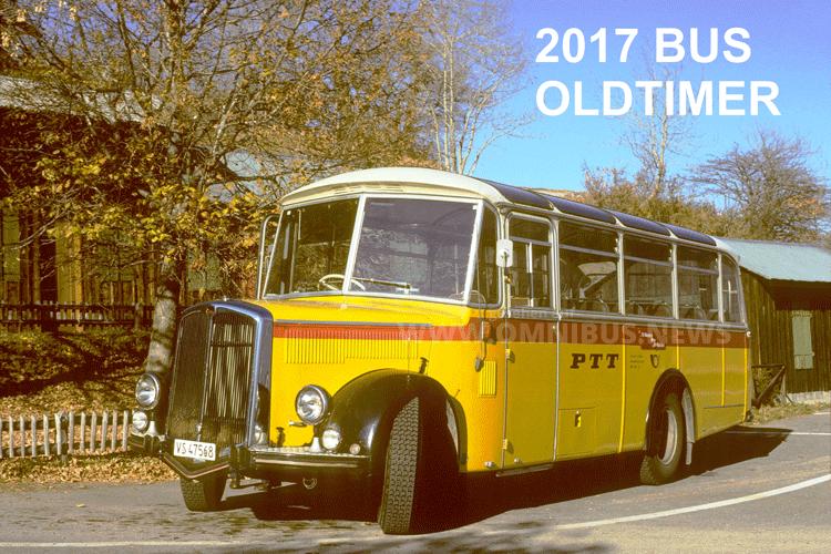 Ab sofort verfügbar: Der Bus Oldtimer Kalender 2017 von Jörg Biegger aus der Schweiz. Foto: Biegger