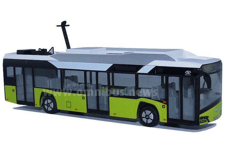 Neu im Maßstab 1/87: Der Solaris Urbino12 Electric. Foto: Schreiber