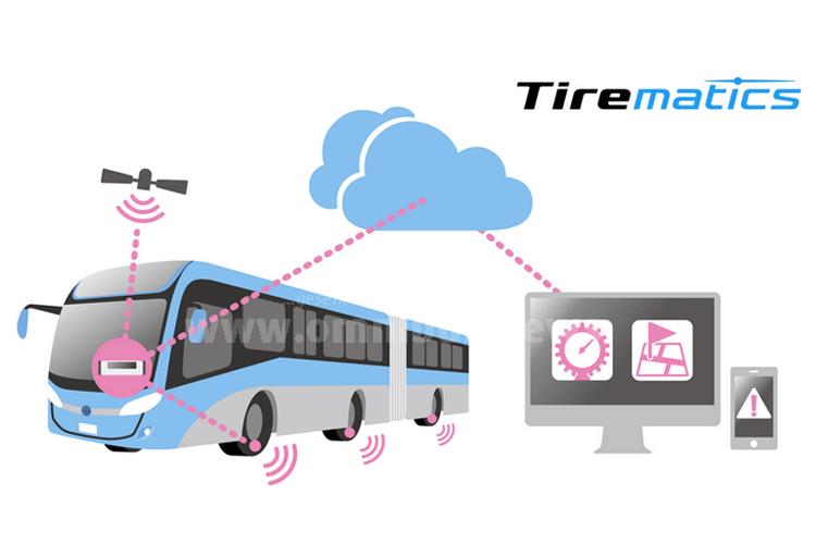 Bei Tirematics kontrollieren IT-Systeme den Luftdruck und die Temperatur von Busreifen in Echtzeit. Grafik: Bridgestone