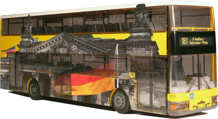 Ich bin der Bus - ...in Berlin muss es ein Doppeldecker sein! Fotomontage: omnibus.news