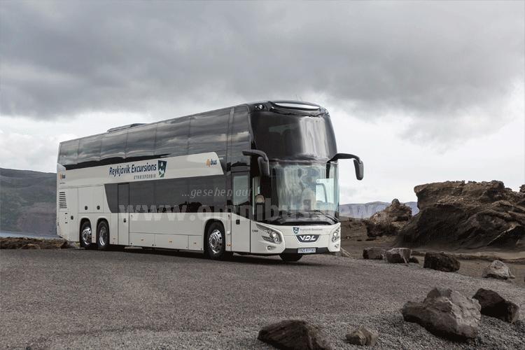 Der erste VDL Doppeldecker auf Island ist seit Sommer 2016 im Einsatz. Foto: VDL / Gunnar Steinn Úlfarsson