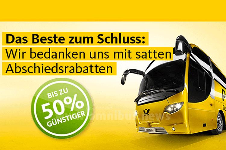 Satte 50 Prozent gibt Postbus zum Schluss! Grafik: Postbus