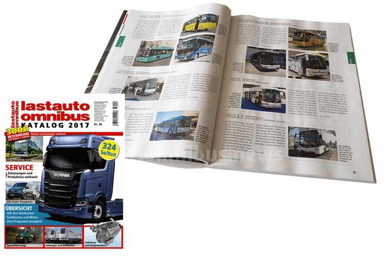 Der Klassiker unter den Nachschlagewerken: Der lastauto omnibus-Katalog. Foto: Schreiber