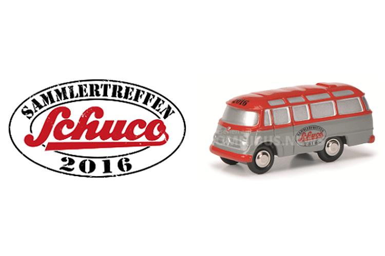 Zum Sammler-Treffen gibt es einen Modellbus. Foto: Schuco