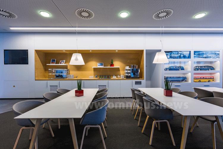 Die Lounge von Setra in Neu-Ulm. Foto: Setra