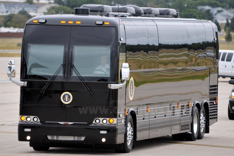 Ground Force One - Tourbus nach Maß für den Präsidenten der USA. Foto: The White House / Pete Souza