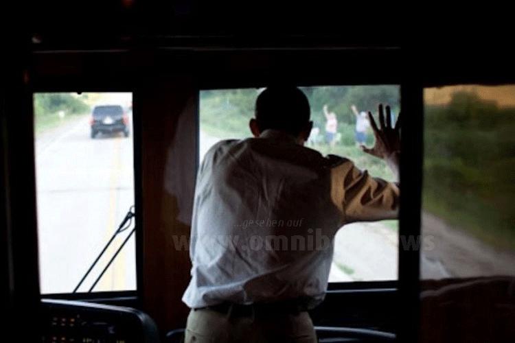 Ausblick nur vom Fahrerplatz aus möglich. Foto: The White House / Pete Souza