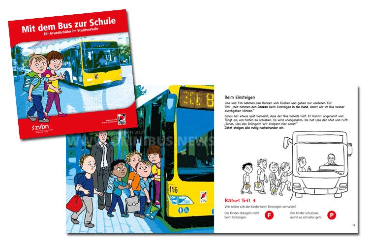 """Arbeitsheft """"Mit dem Bus zur Schule"""". Foto: Schreiber"""